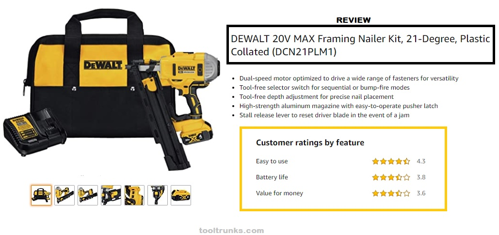 20V DeWalt DCN21PLB Cordless Framing Nailer | Reviews & Buying Guide